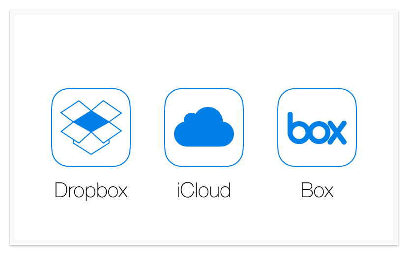 Appcooker prototyping studio for apple watch iphone and ipad dropbox box and icloud icons malvernweather Images
