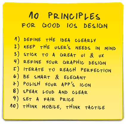10 iOS Principles for Good Design App Idea