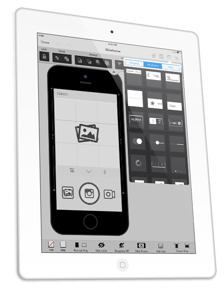 wireframe iphone and ipad apps - Prototype Ipad App
