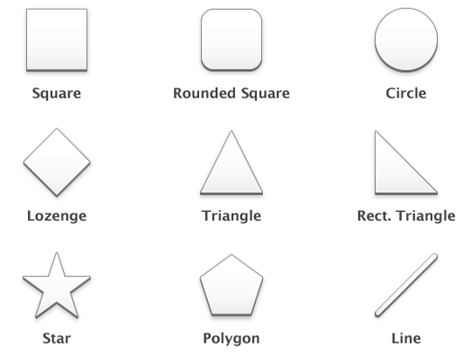 Vector shapes Polish iOS Icons